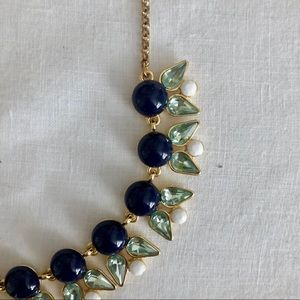 JCrew Navy & White Beaded Necklace